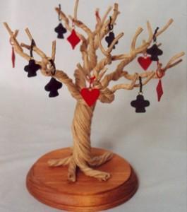 Set of 12 Bridge/Card Party Ornaments