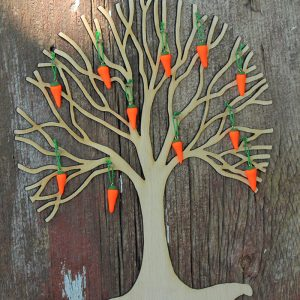Set of 12 Carrot Ornaments