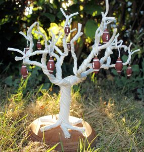 Set of 12 Football Ornaments