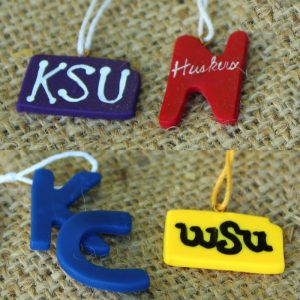 Set of 12 College Ornaments