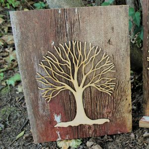 Barn Wood Wall-Hanging Tree