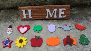 "12 piece ""Home"" Seasonal Barn Wood Sign"