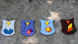 Owls (4 pieces) for Seasonal Barn Wood Sign